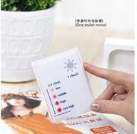 Wholesale Korea Beautiful one stylish mirror UV Level Check Mirror change color make up mirror household life