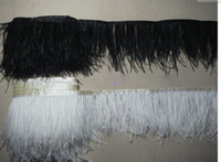 Wholesale White amp Black CM SINGLE DECK OSTRICH FEATHER Bag FRINGE LACE TRIM SEWING CRAFT PADS
