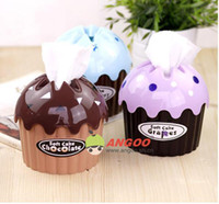 Wholesale New colors Ice cream napkin bins paper towel barrel paper towel box cost