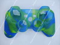 Wholesale Hot Silicone Skin Case Cover Protective for PS2 PS3 Controller Case Video Games Accessories New