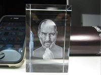 Crystal job lots - Memorial Apple CEO Steve Jobs Crystal Figure Crystal head Size cmx5cmx8cm by DHL Shipping