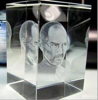 Wholesale New Memorial CEO Steve Jobs Crystal Figure Crystal head Size cmx5cmx8cm by DHL Shipping