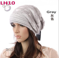 Wholesale high quality women winter Knitted Hats cotton fashional lady caps