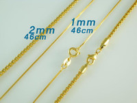 brass chain - How Cool Cleverish Box Chains mm inch for pretty women Fashion Gold plated Brass Necklace