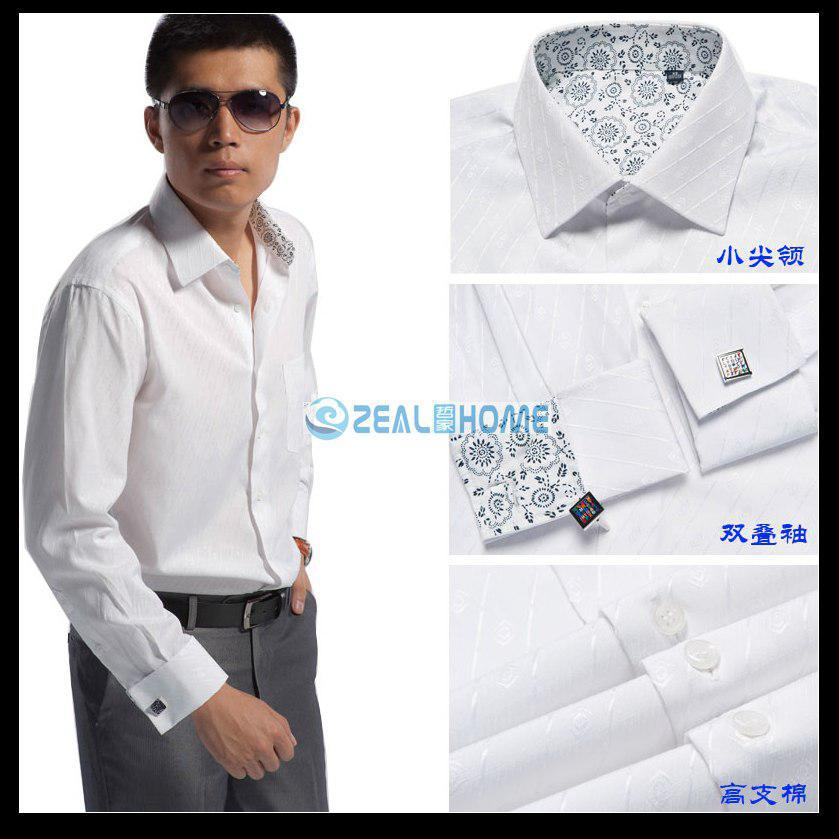 2017 wholesale custom made mens dress shirt men 39 s french for Discount french cuff dress shirts