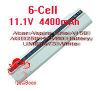 Wholesale Acer Aspire One A150 AOD250 KAV60 Battery UM08A73 White