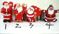 Wholesale christmas Santa Claus GB GB GB USB Flash Drive Memory Stick pen keys thumb drive