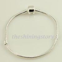 chamilia beads - Silver plated chamilia biagi bracelets fit for large big hole troll charm beads Pabc002 cheap fashion jewellery