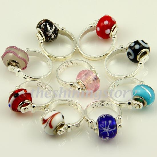 Christmas Chamilia Charms Finger Rings With Big Hole ...