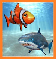 Wholesale Novelty RC Air swimmer clownfish shark nemo radio remote control flying fish Inflatable toys kids