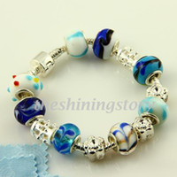 Wholesale chamilia biagi bracelet jewelry european murano beads charm bracelets sterling silver filled