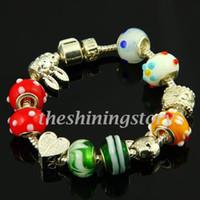 Classique Biagi européens charmes bracelets avec des bijoux de mode gros trous perles de verre murano troll bijoux artisanaux mode china pas cher