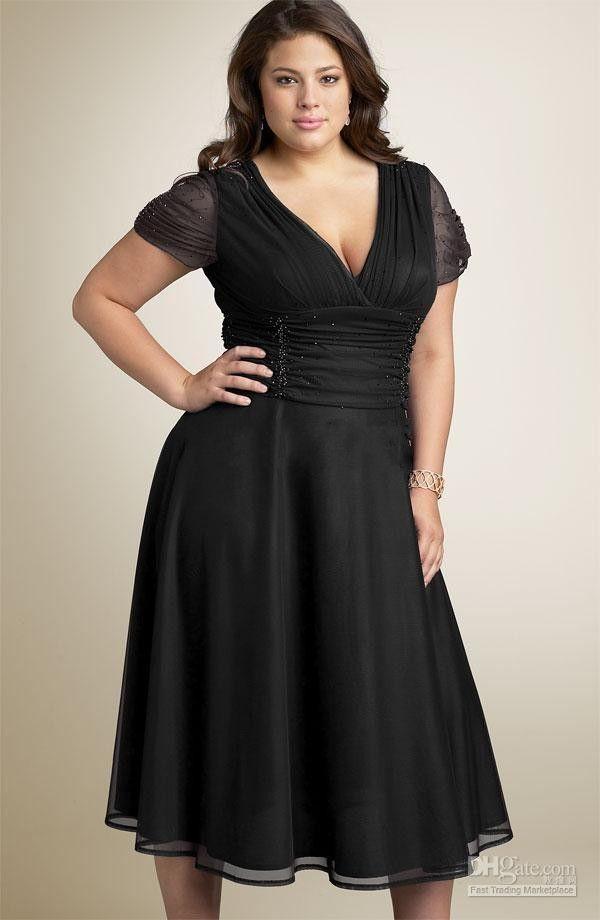2015 Sexy Cocktail Dresses A Line V Neck Tea Length Satin Organza ...