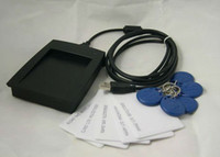 Wholesale USB KHz EM4100 RFID Proximity Reader with Cards Key Tags e_shop2008