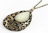 Wholesale 5pcs Antique Brass Plated Alloy Drop Charms Necklace Finding