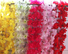 Silk Azalea Flower Rattan 2M Artificial Flowers Cane Vine Garlands 9 Colors Available for Wedding Photograph Props