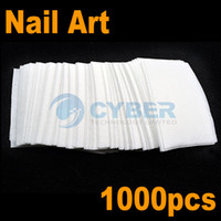 Wholesale 1000pcs Nail Art Wipes Pad Gel Acrylic Tips Polish Remover White Cotton Non woven
