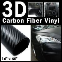 Wholesale 16 quot x quot Textured D Carbon Fiber Vinyl Wrap Sheet mm x mm