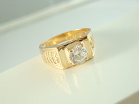 Wholesale New Diamond Rings For men Fashion Gold plated Brass Rings Good selling