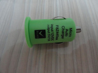 Wholesale 300pcs Hot Sale Colorful Mini USB Car Charger for iPods iPhone G GS G PSP Cellphone