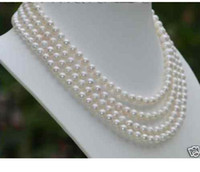 Wholesale Stunning AAA MM WHITE AKOYA PEARL NECKLACE