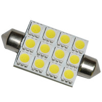 Wholesale 100pcs mm LED SMD Light Festoon Dome Car Bulb Lamp Color White
