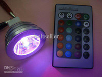 Wholesale 3W v Remote Control LED Bulb Light Flash color RGB light set