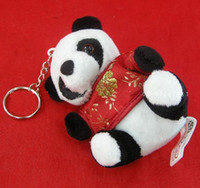 Wholesale Plush Keychain Key Ring Key Chain Key Chinese Panda Promotion Gift Key chain Free