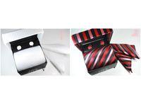 animal cufflink - 2015 New Arrive sell mens tie sets wedding ties Tie cufflinks pocket towel gift box set C