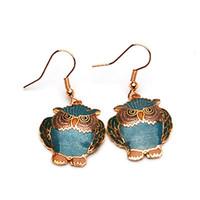 Wholesale Best Owl Earring Designer Lady Earring Charm Eardrop Cloisonne Jewelry Earring pair mix Free