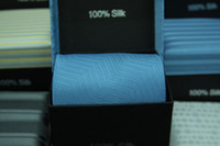 Wholesale Silk factory ties new Men s tie ties Necktie With Handkerchief Cuff Button and box