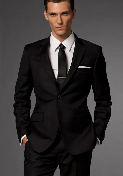 Mens Suits In Black Dress Yy