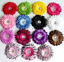 Wholesale 1500pcs inch Gerber baby hair bows Children s clips girl flowers barrettes hair clips bands