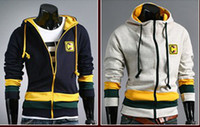 Wholesale 1682 Brand New Fashion s cap Thick even Men s Hoodies amp Sweatshirts Jacket Coat Size M L XL XXL