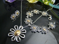 Wholesale Retail lowest price Christmas gift silver Necklace Bracelet set S125