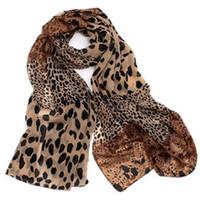 Wholesale Woman s Imitate Silk Leopard Scarf Big Soft Scarves scarf shawl Chiffon Scarf X70cm