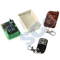 Wholesale Learning code Wireless CH Relay Module amp Four Button Universal Remote Control