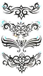 Wholesale Luxury Tattoo stickers on back hand arm waist cover scar fashion anti sweat body tattoo