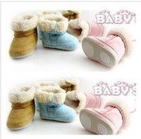 Wholesale fur winter boots Infant boys girls toddler baby shoes fur winter boots