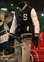 Jackets letterman jackets - 2011 most Popular Men s Baseball jacket quot S quot Varsity College Letterman Cotton hoody jackets