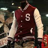 Wholesale 2011 New style Men s Baseball jacket quot S quot Varsity College Letterman Cotton hoody jackets