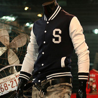letterman jackets - 2011 New Design Men s Baseball jacket quot S quot Varsity College Letterman Cotton hoody jackets