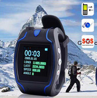 Wholesale GPS watch tracker GSM GPRS GPS Tracker Watch mobile phone function SOS CALLING HELP for out door