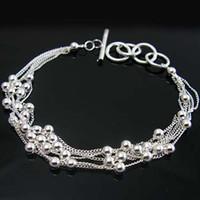 Wholesale Retail lowest price Christmas gift new silver fashion Bracelet B13