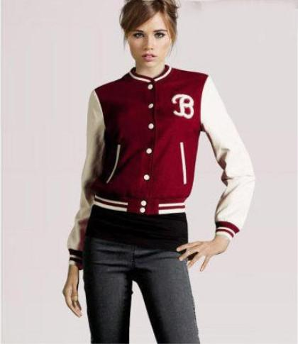Super In Ladies Baseball Jackets Women's Sports Coats Lady's Brand