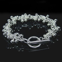 Wholesale Retail lowest price Christmas gift new silver fashion Bracelet B27
