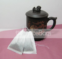 Wholesale eBags Empty Tea Bag S x8cm Sealed by String Filter paper Tea tools