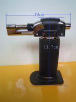 Wholesale Black Refillable Butane Lighter with Jet Flame Light Portable Welding Torch LT1104