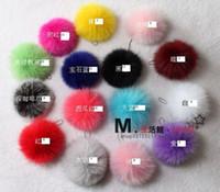 Wholesale Genuine Fox Hair Ball Cell Phone Pendant Charms Keychains Fashion Accessories cm