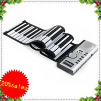 Wholesale 61 Keys Roll Up Soft Electronic Keyboard Piano Flexible New Demonstration songs